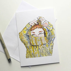 Knitting Introvert Card