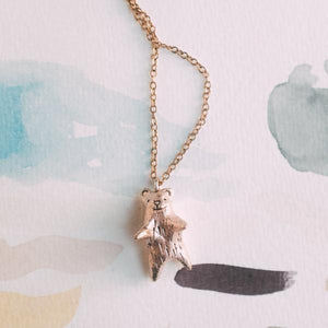 Dawning Collective Bronze Bear Necklace