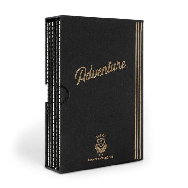 Adventure: Set of 5 Travel Notebooks