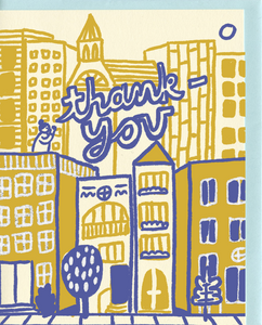 People I've Loved Rooftop Thank You Card