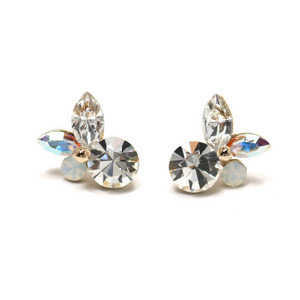 Lover's Tempo Corsage Earrings, Clear