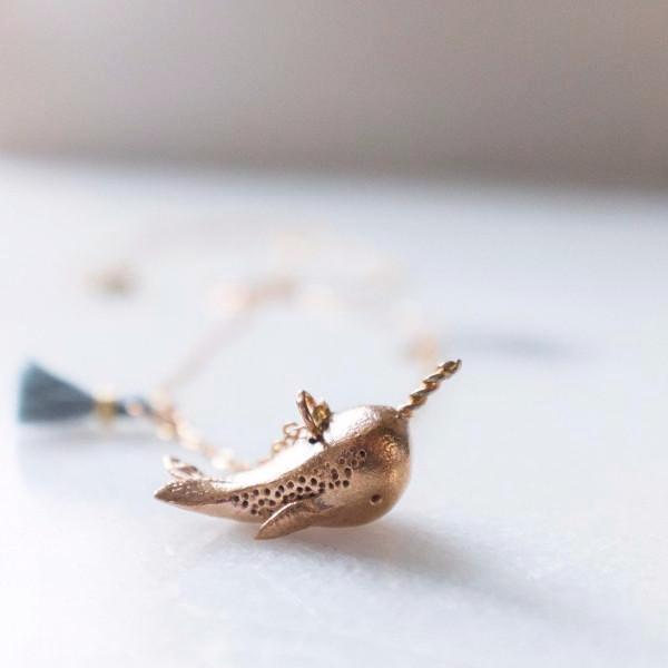 Dawning Collective Bronze Narwhal Necklace