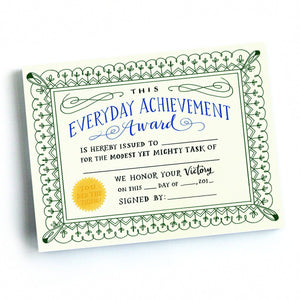 Emily McDowell Everyday Achievement Award Certificates