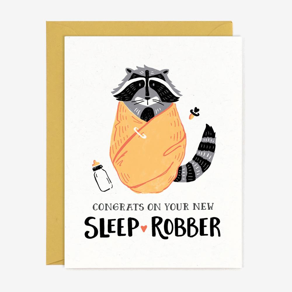Paper Pony Co. Congrats On Your New Sleep Robber Card