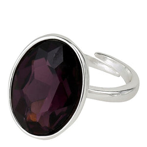 Pilgrim Harriet Ring, Silver &  Plum