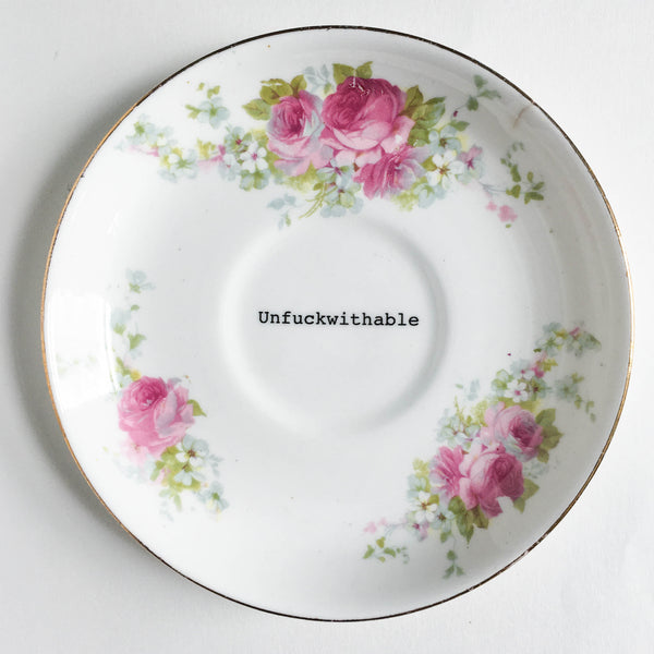 Lou Brown Vintage Unfuckwithable Decorative Plate