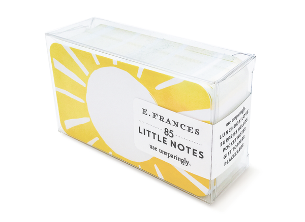 E Frances Little Notes: Sunny Day