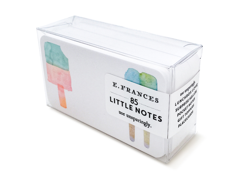 E Frances Little Notes: Popsicles