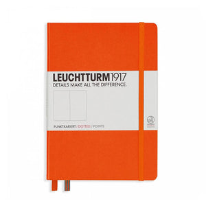 Leuchtturm 1917 Hardcover, Medium Dotted Notebook, Orange
