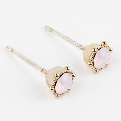 Lover's Tempo Astrid Earrings, Pink Opal
