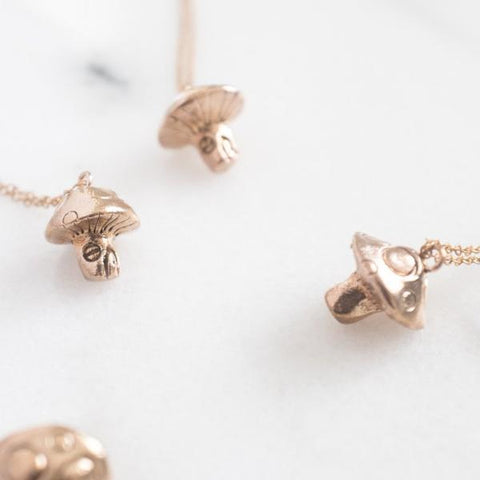 Dawning Collective Bronze Mushroom Necklace