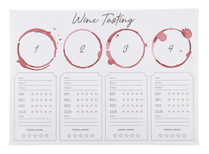 Wine Tasting Placemat Pad