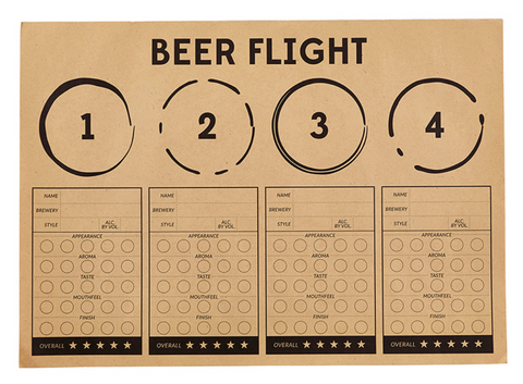 Beer Flight Placemat Pad