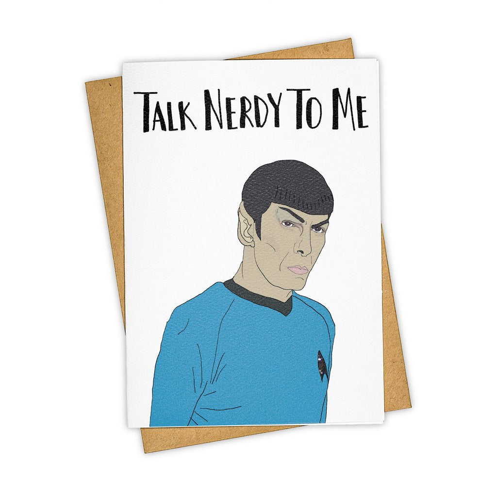 Tay Ham Talk Nerdy To Me Spock Card