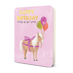 Studio Oh! I Hope You Get a Pony Happy Birthday Card