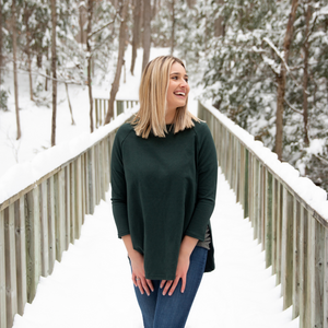 Blondie Apparel East End Sweater, Green Gables