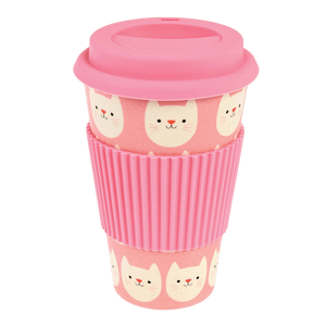 Bamboo Lidded Travel Cup, Cookie The Cat