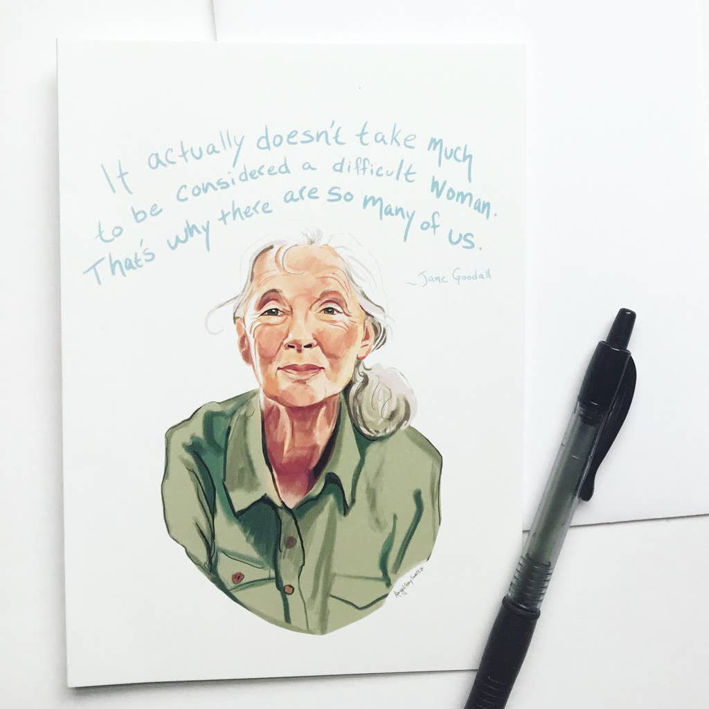 Jane Goodall Difficult Woman Card