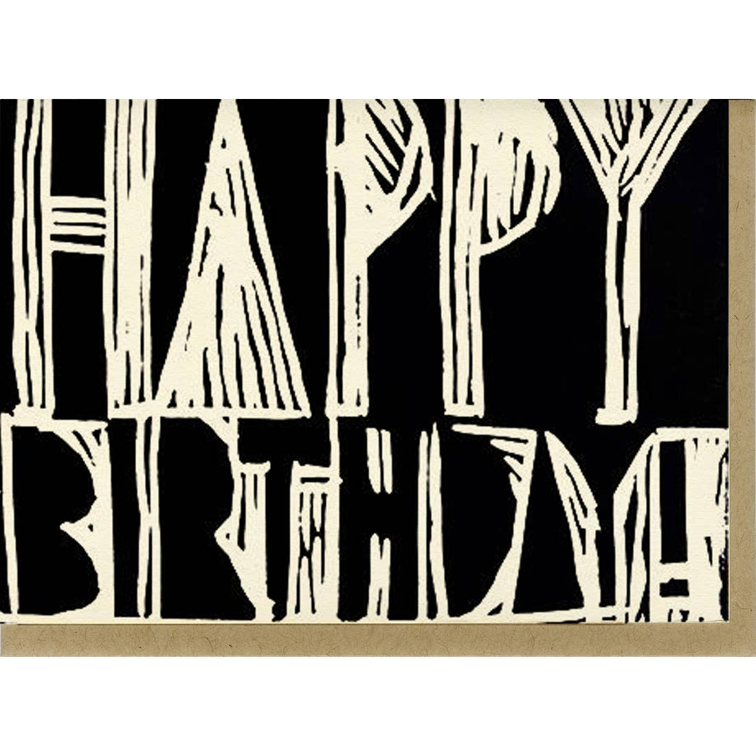 People I've Loved Woodblock Happy Birthday Card