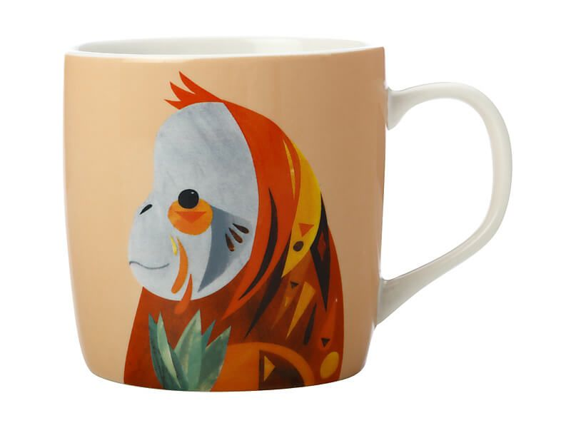 Pete Cromer Wildlife Collection Mug, Orangutan