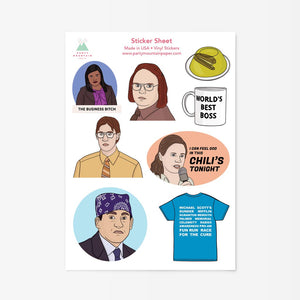Party Mountain The Office Sticker Sheet