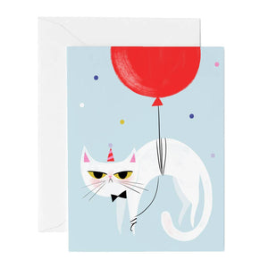 Hip Hip Grouchy Cat Birthday Card
