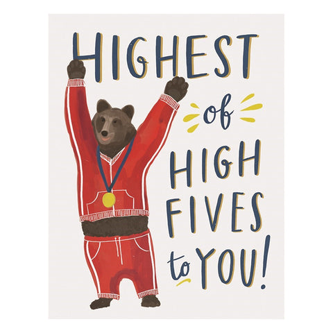 Highest of High Fives To You! Card