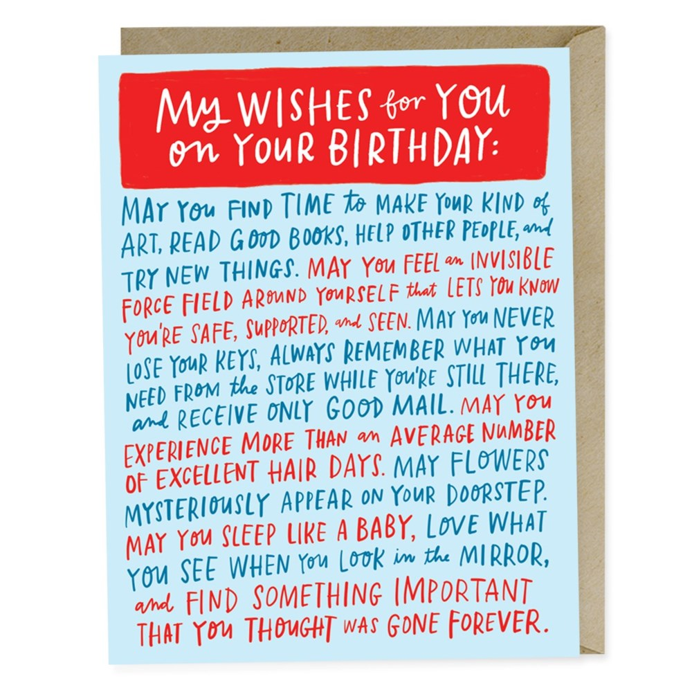 Emily McDowell Wishes For Your Birthday Card
