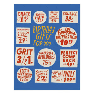 Lisa Congdon Birthday Gifts for You Card