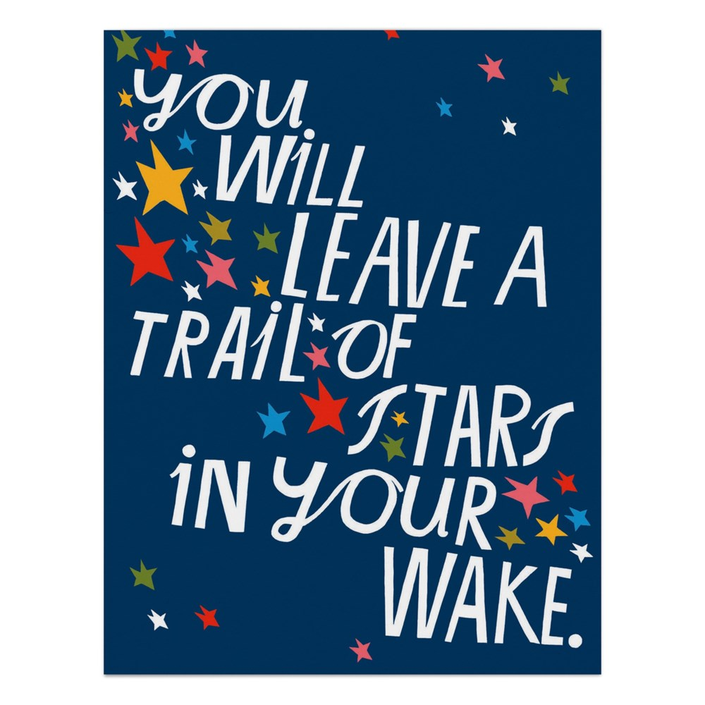 Lisa Congdon You Will Leave a Trail of Stars Card