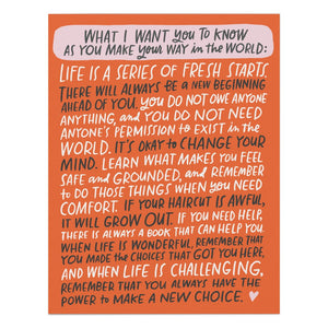 Emily McDowell What I Want You To Know... Card