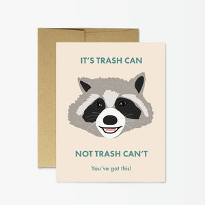 Raccoon Trash Can Card