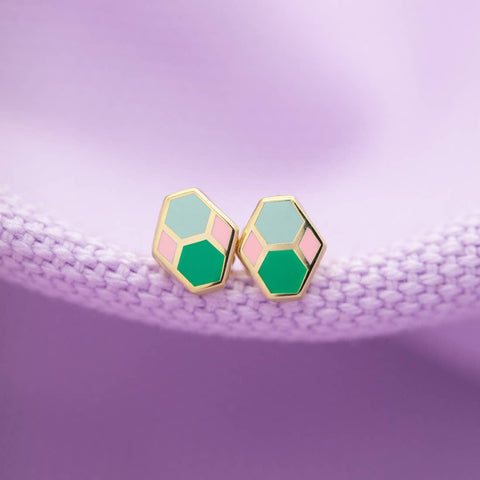 Hex Tile Earrings