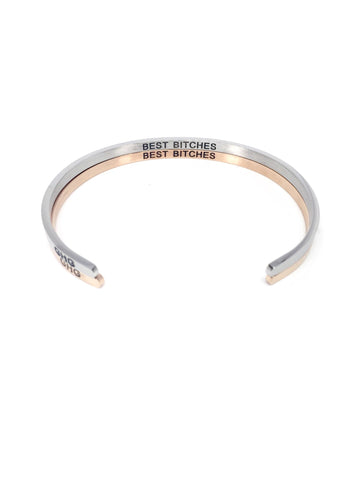 Glass House Goods Best Bitches Bracelet, Stainless Steel