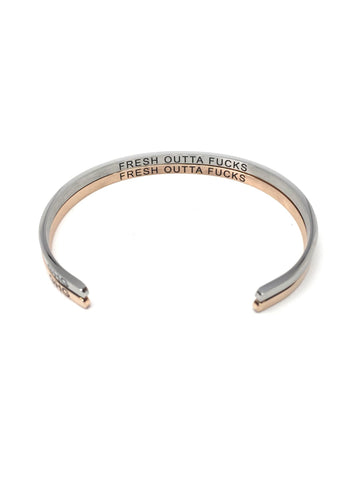 Glass House Goods Fresh Outta Fucks Bangle, Rose Gold