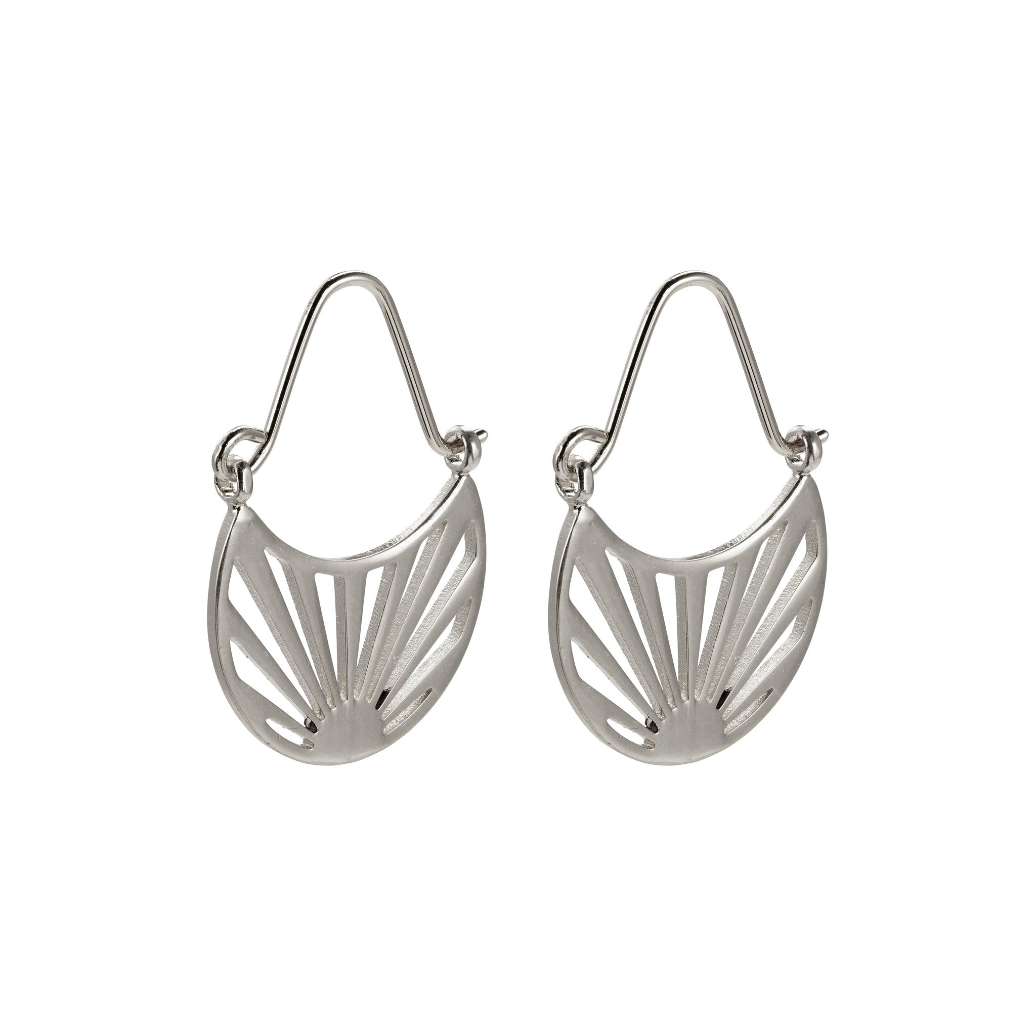 Pilgrim Fire Earrings, Silver