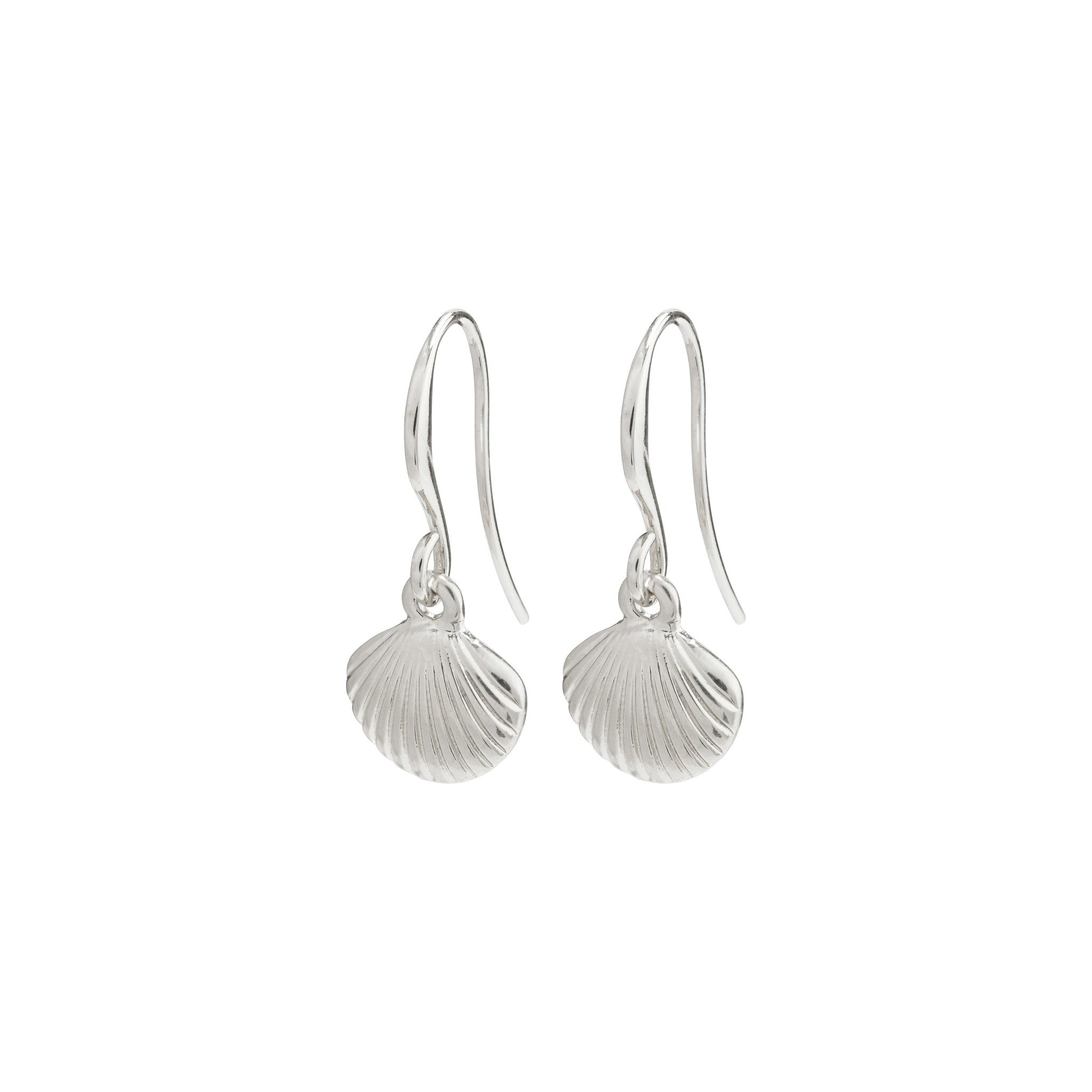 Pilgrim By the Sea Earrings, Silver