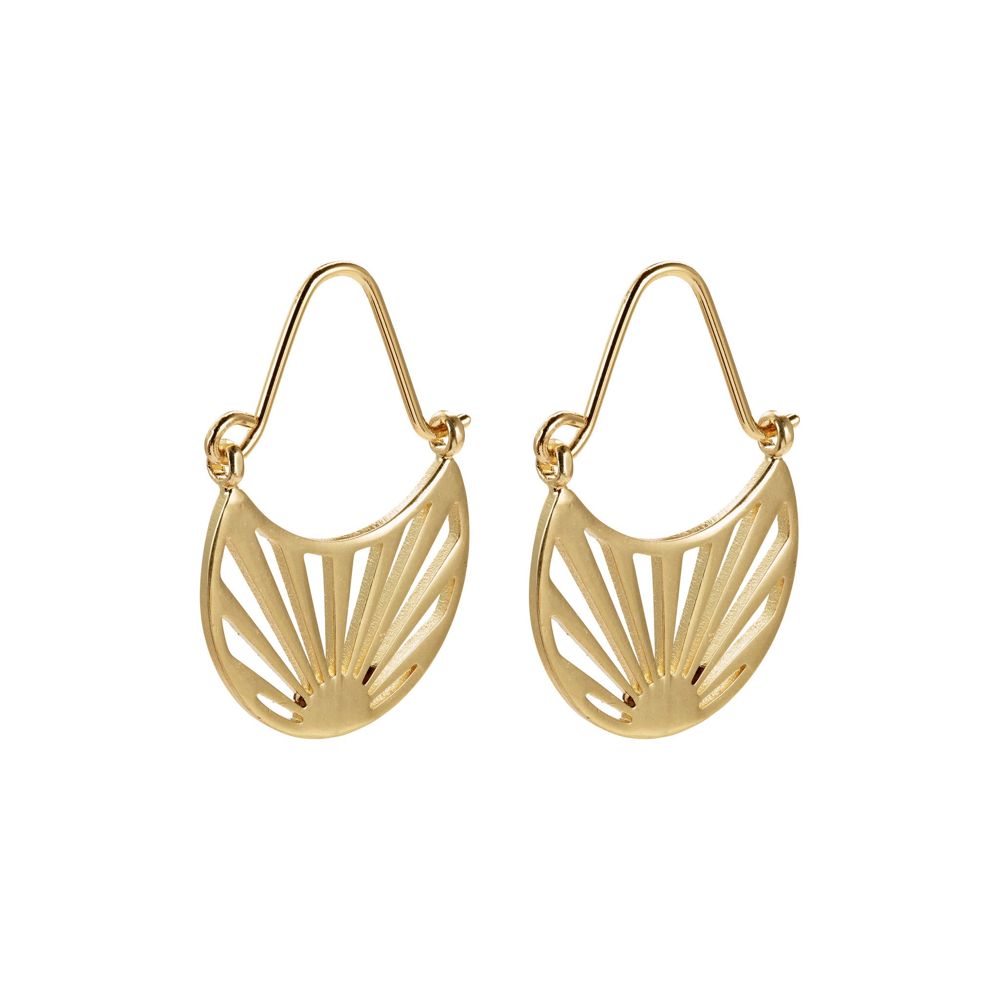 Pilgrim Fire Earrings, Gold