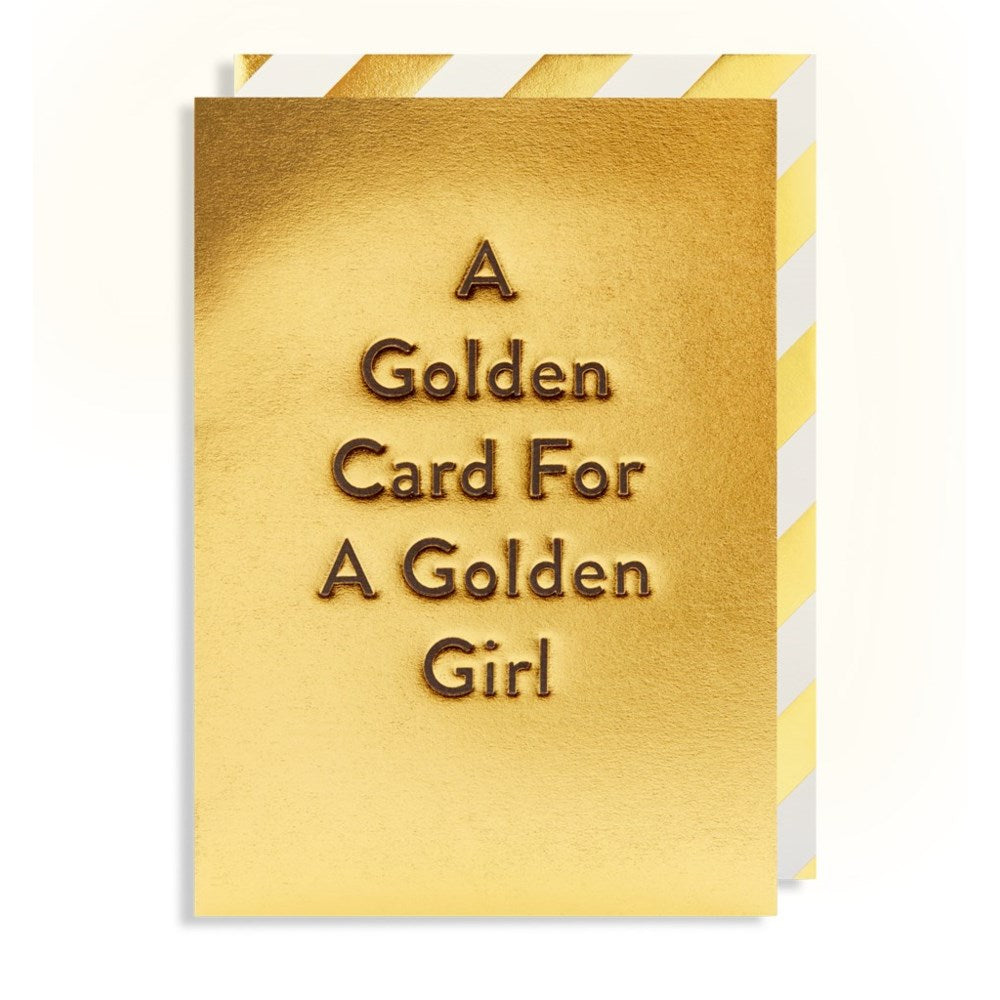 A Golden Card for a Golden Girl Card