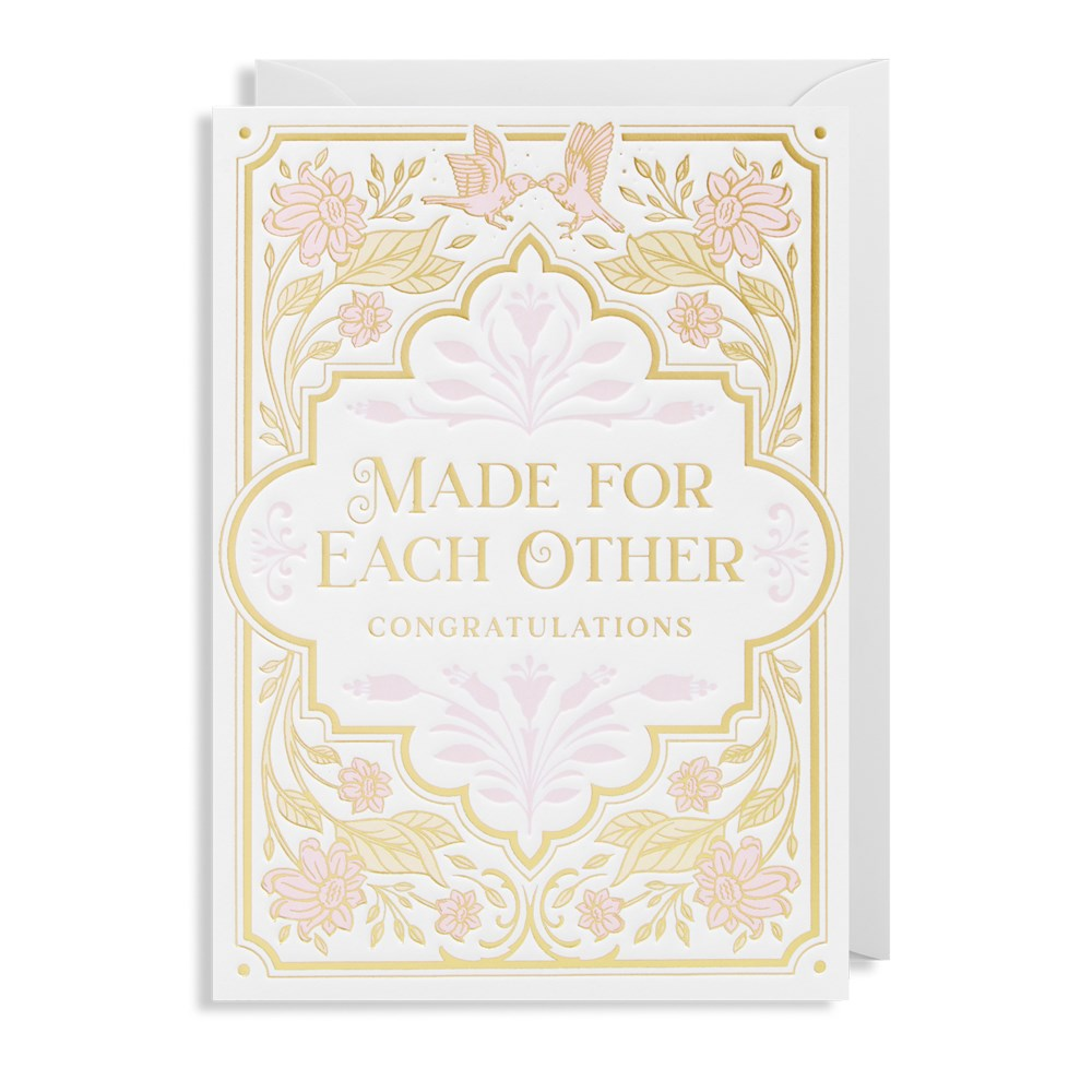 Made For Each Other Congratulations Card