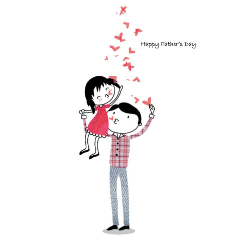 Happy Father's Day Hearts Card
