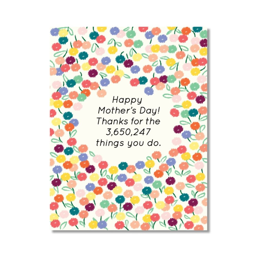 Happy Mother's Day! Thanks For The 3 650 247 Things You Do Card
