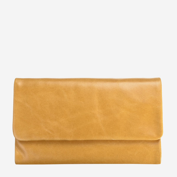 Status Anxiety Audrey Wallet, Tan (yellow)