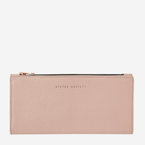 Status Anxiety In the Beginning Wallet, Dusty Pink