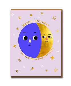 Happy Birthday You Are My Moon and My Stars Card