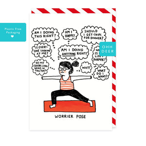Gemma Correll Worrier Pose Card
