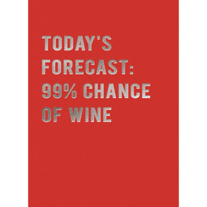 Today's Forecast: 99% Chance of Wine Card