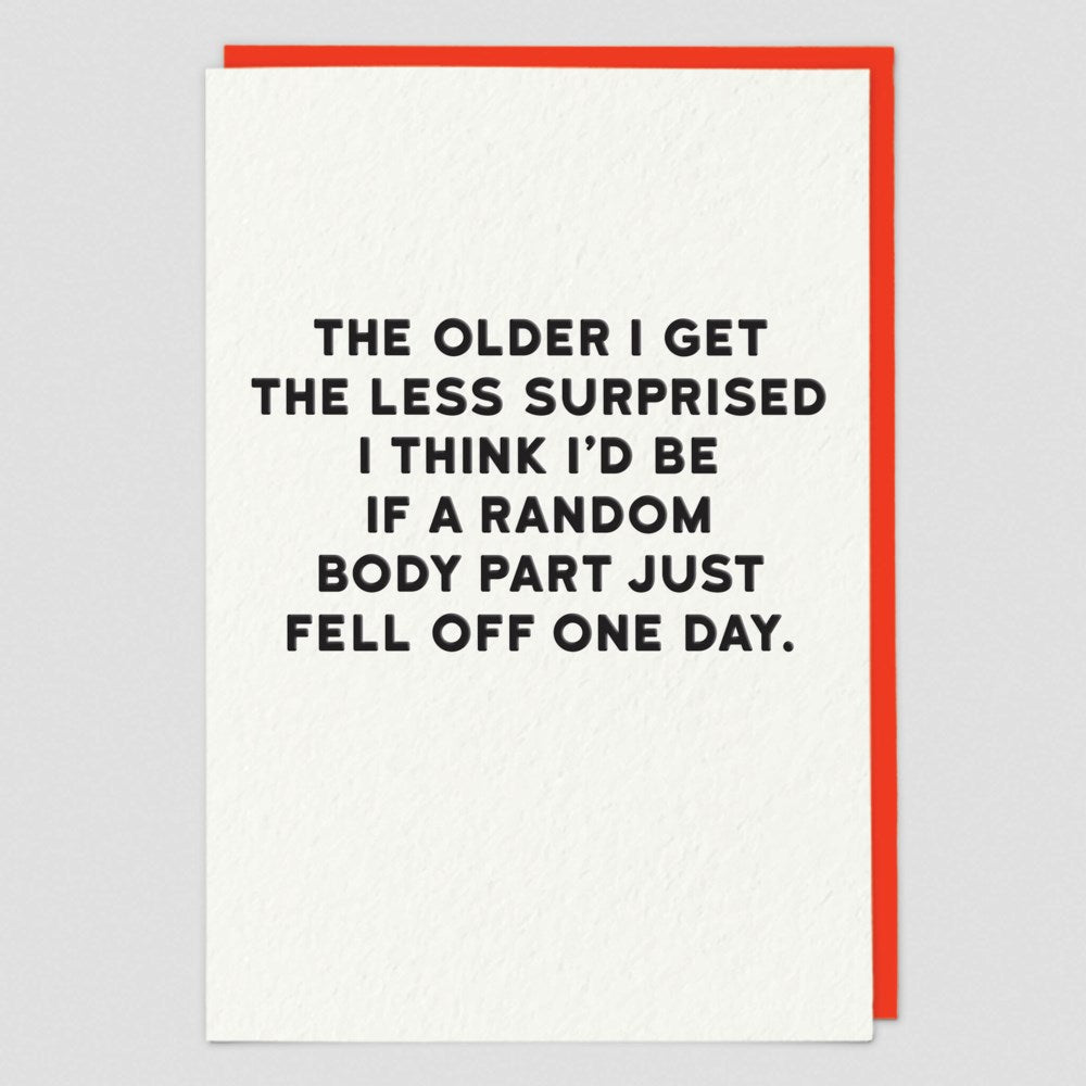 The Older I Get The Less Surprised... Card