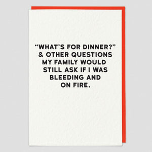 What's For Dinner & Other Questions... Card