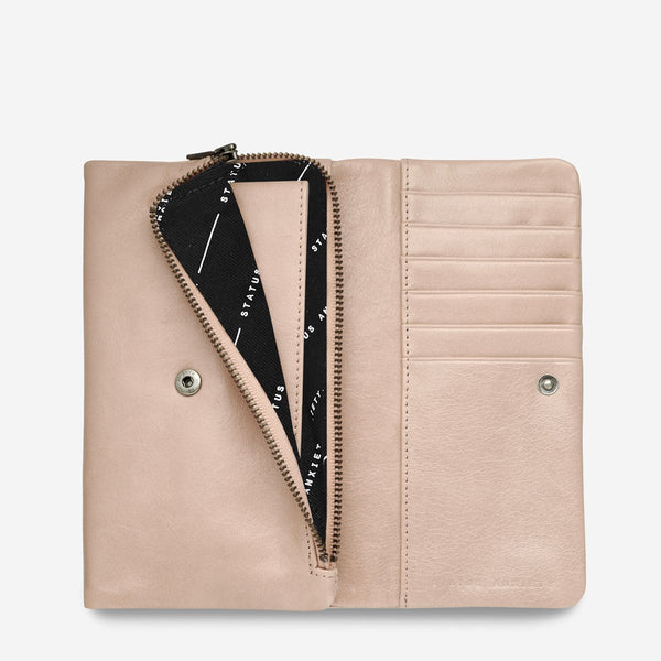 Status Anxiety Audrey Wallet, Dusty Pink